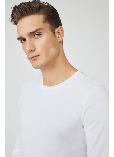 Avva Erkek   Tişört E001002 Beyaz